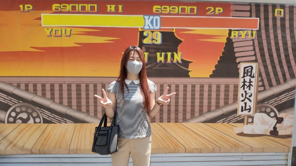 名古屋の大須 インスタ映えスポットにて