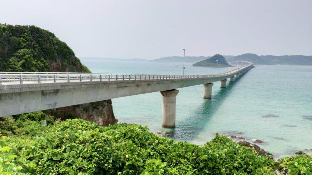 角島大橋の手前