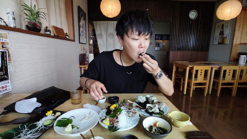 和食処夢岬での食事