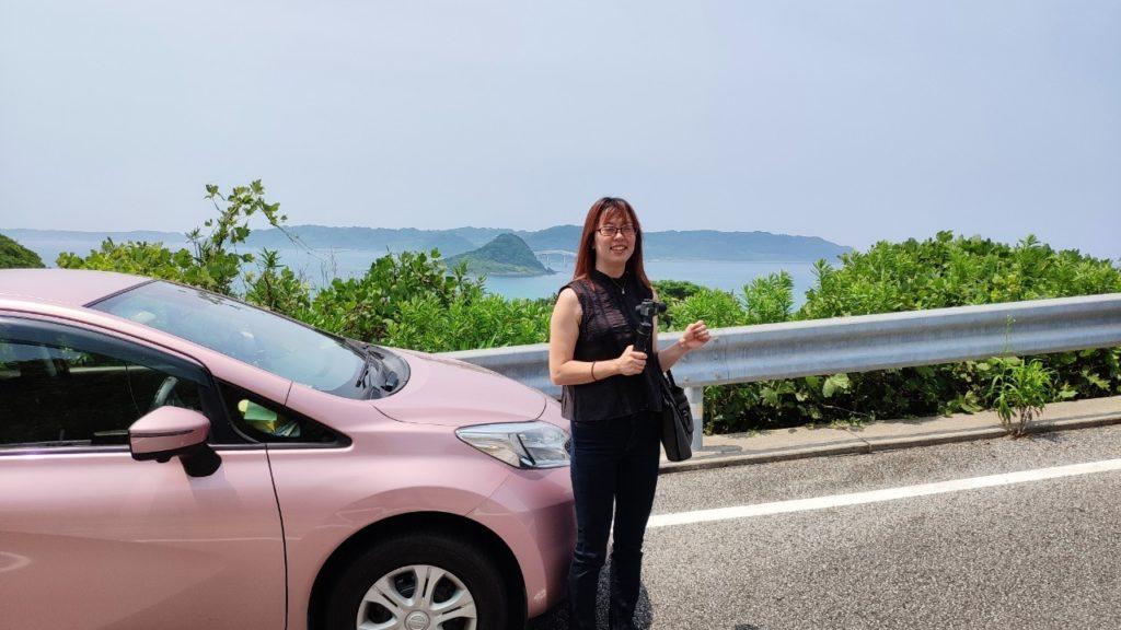 角島を見るための車が行列w