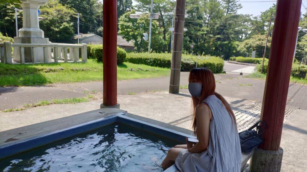 霧島神宮の足湯
