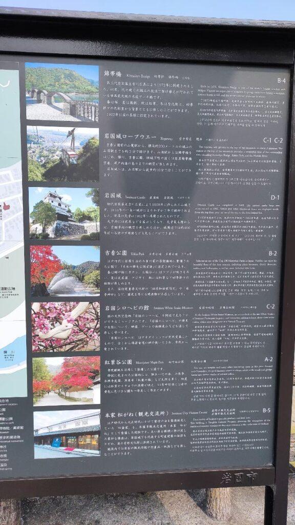 錦帯橋付近の見どころマップ