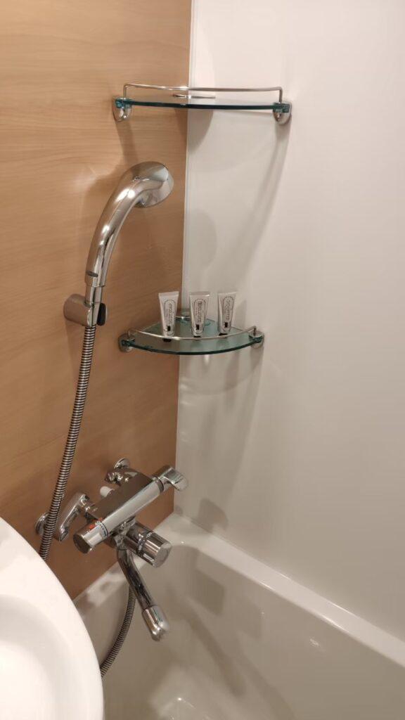 変なホテル金沢のシャワールーム