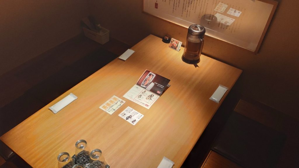 元祖博多めんたい重の店内個室