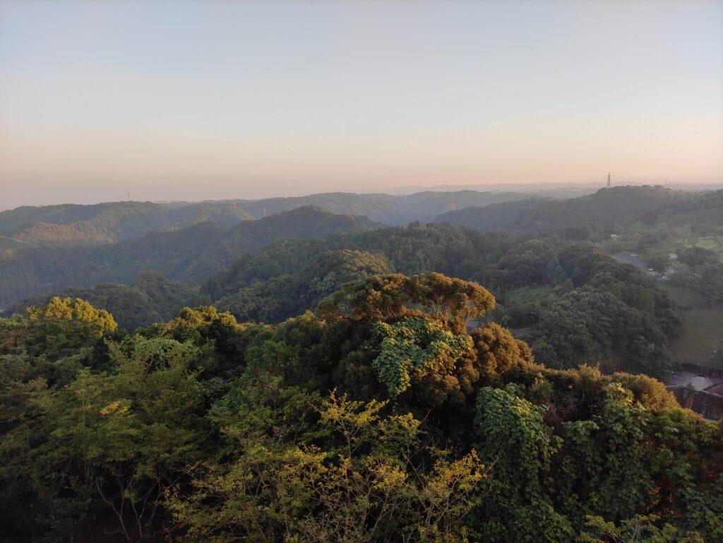 健康の森公園の展望台からの景色
