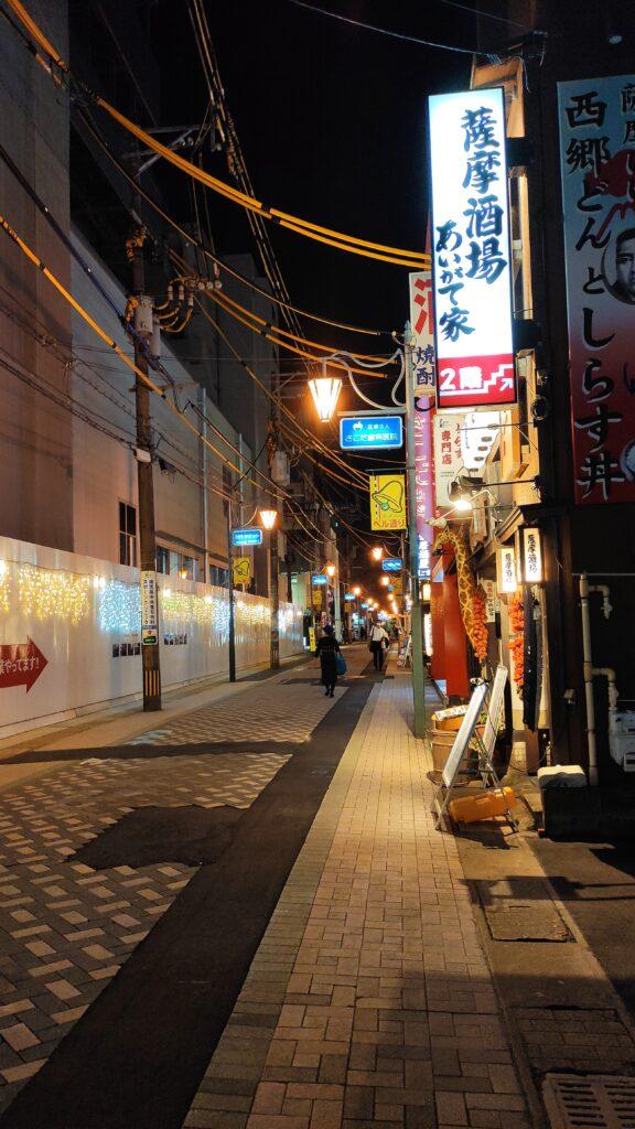 桜勘近くの道