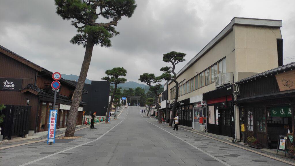 出雲大社の商店街