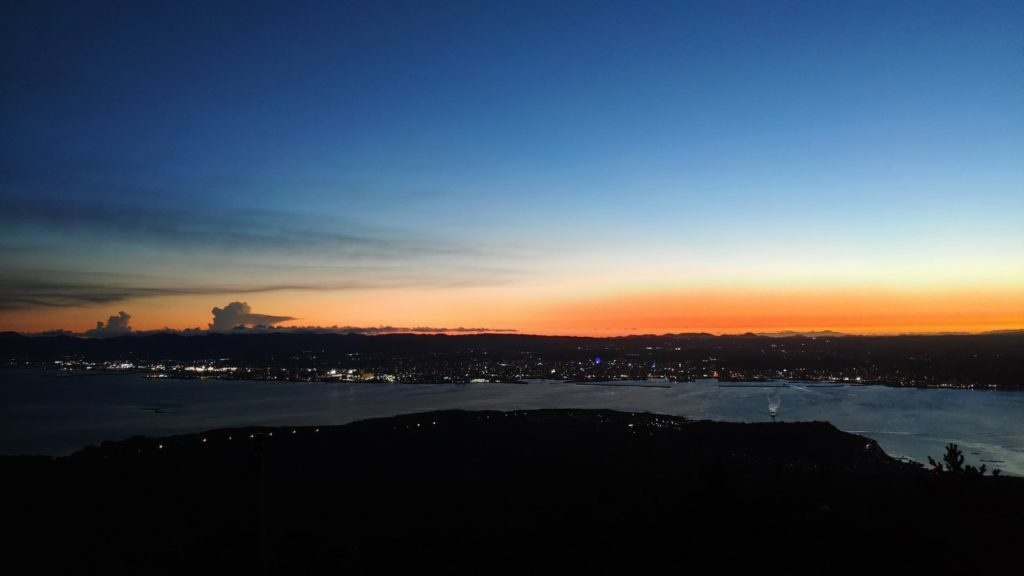 湯之平展望所は夕焼けが本当に美しかった
