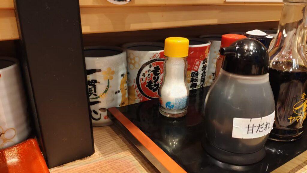 もりもり寿司の醤油たち