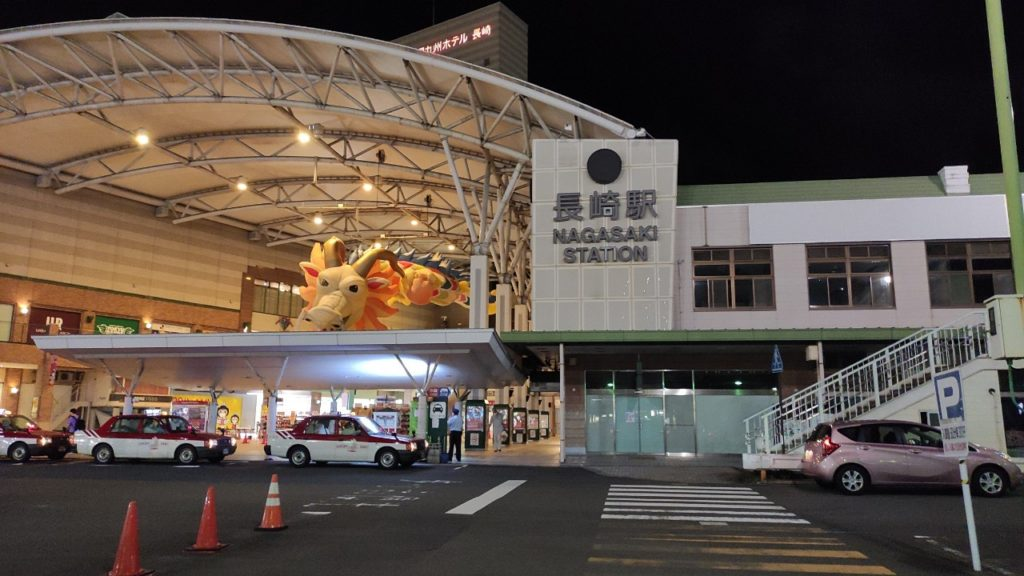 長崎駅に龍がいました