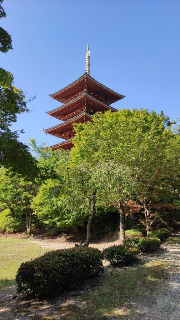 海の京都、成相寺の五重塔