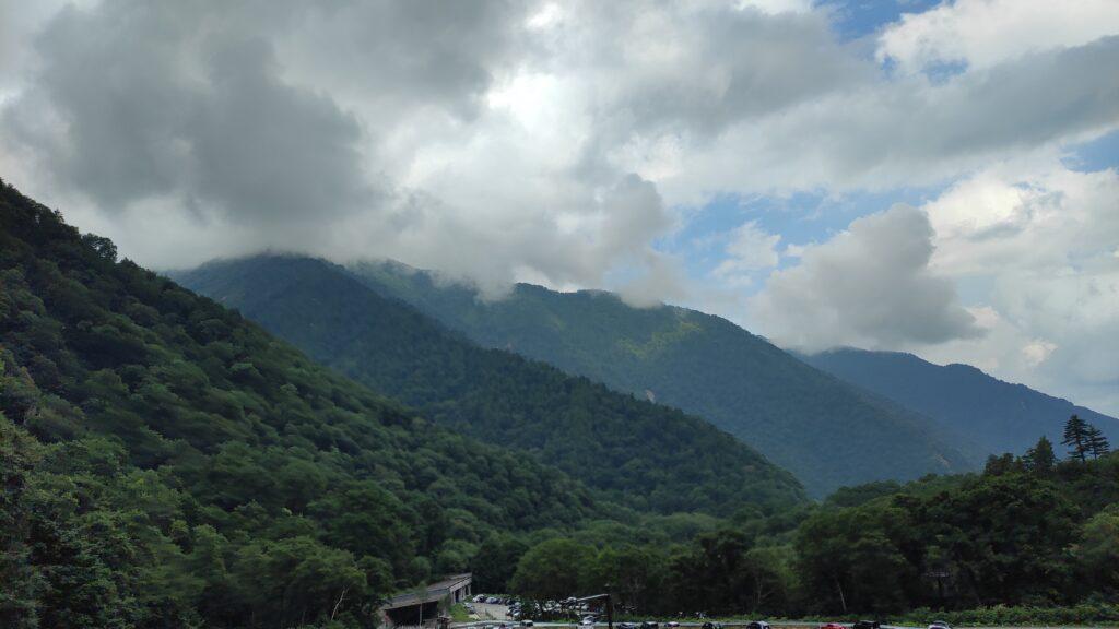 扇沢駅からのよい景色
